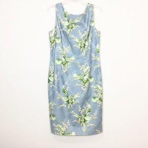 Maggy London Beaded Floral Sheath Dress